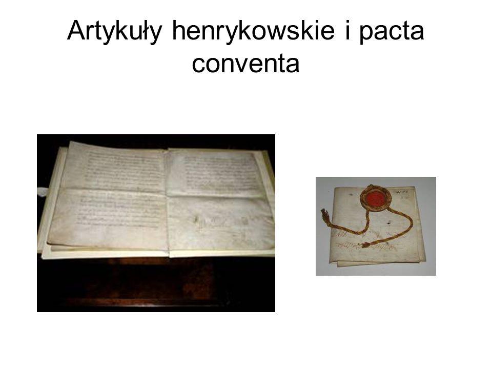 Artykuły henrykowskie i pacta conventa