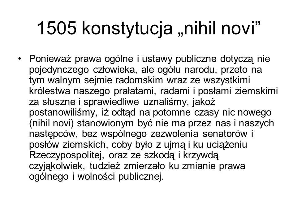 "1505 konstytucja ""nihil novi"