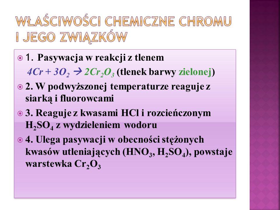 Właściwości chemiczne chromu i jego związków