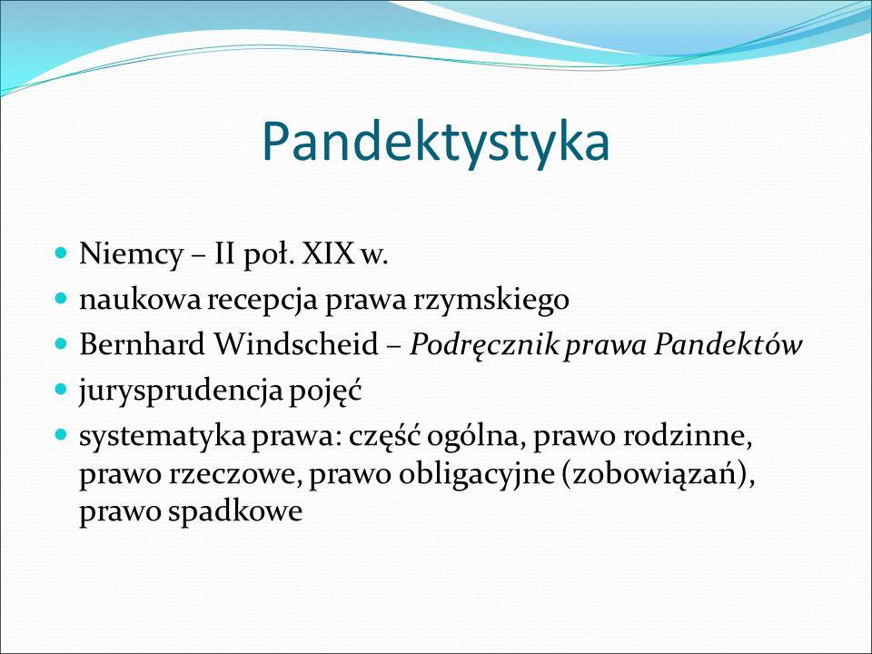 Pandektystyka Niemcy – II poł. XIX w.