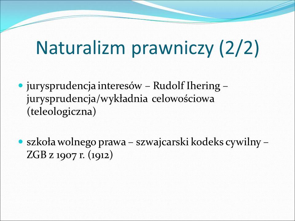 Naturalizm prawniczy (2/2)