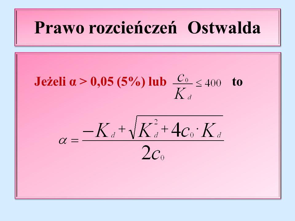 Prawo rozcieńczeń Ostwalda
