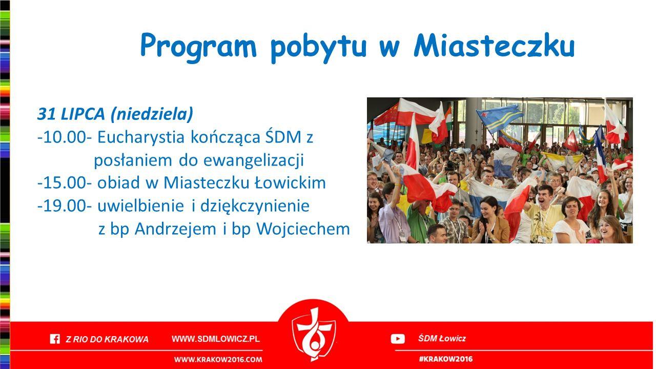 Program pobytu w Miasteczku
