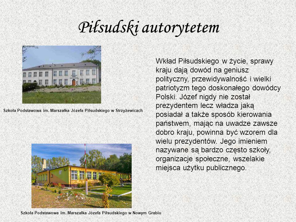 Piłsudski autorytetem