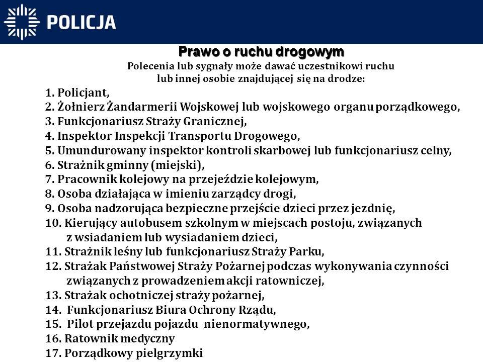 Prawo o ruchu drogowym Policjant,