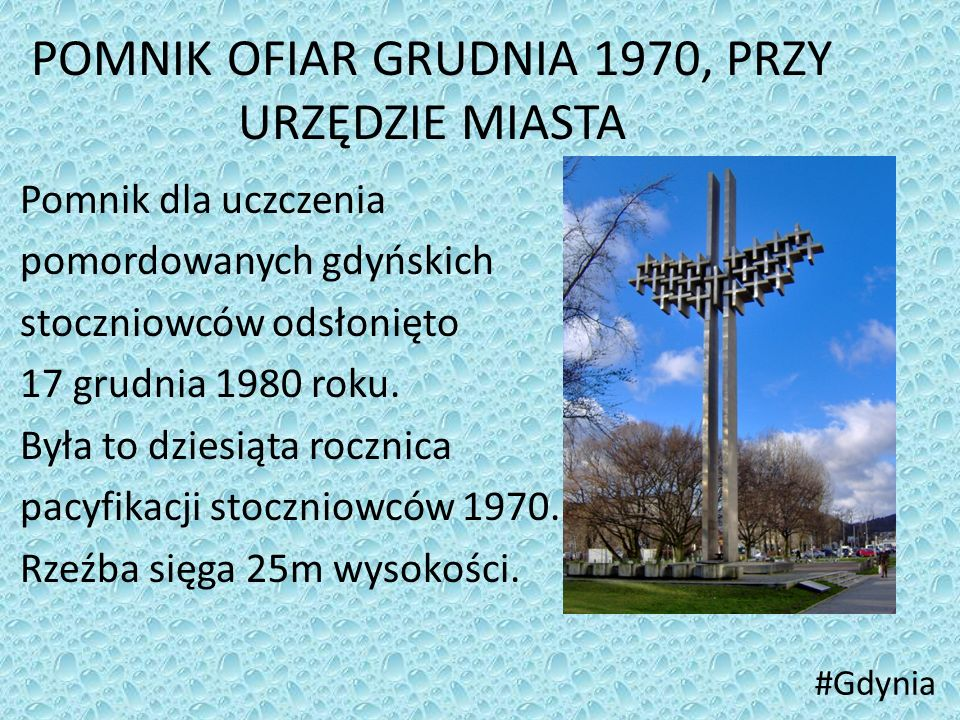 POMNIK OFIAR GRUDNIA 1970, PRZY URZĘDZIE MIASTA