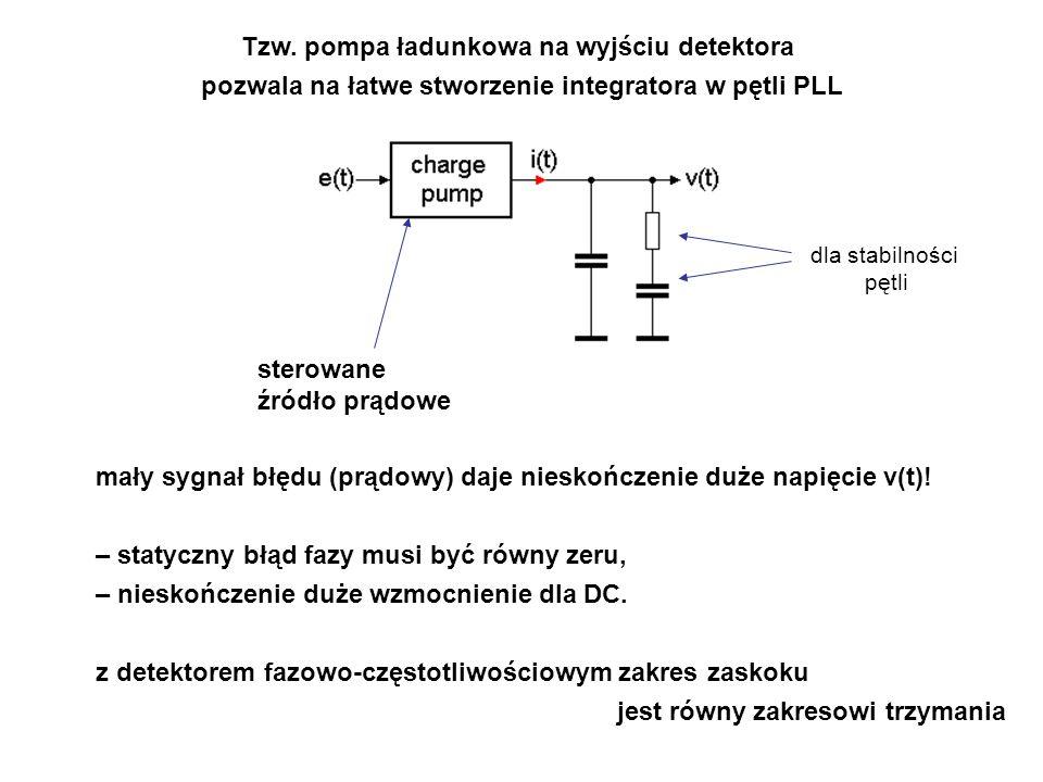 Tzw. pompa ładunkowa na wyjściu detektora