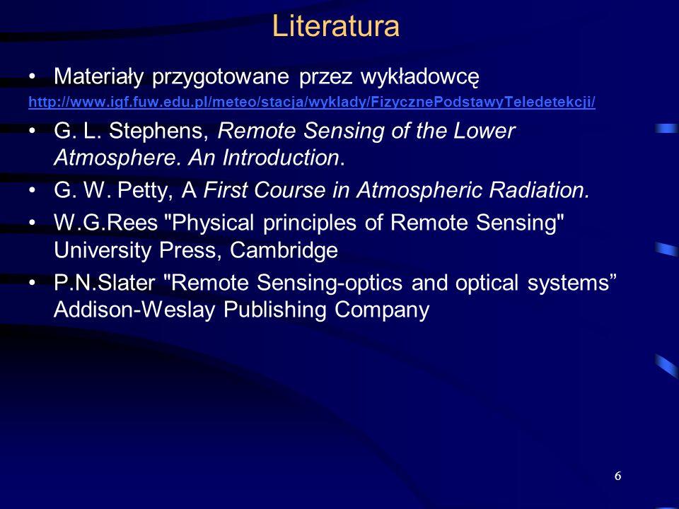 Literatura Materiały przygotowane przez wykładowcę