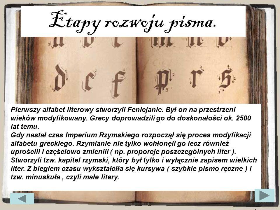 Etapy rozwoju pisma.