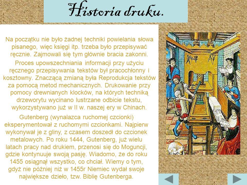 Historia druku.