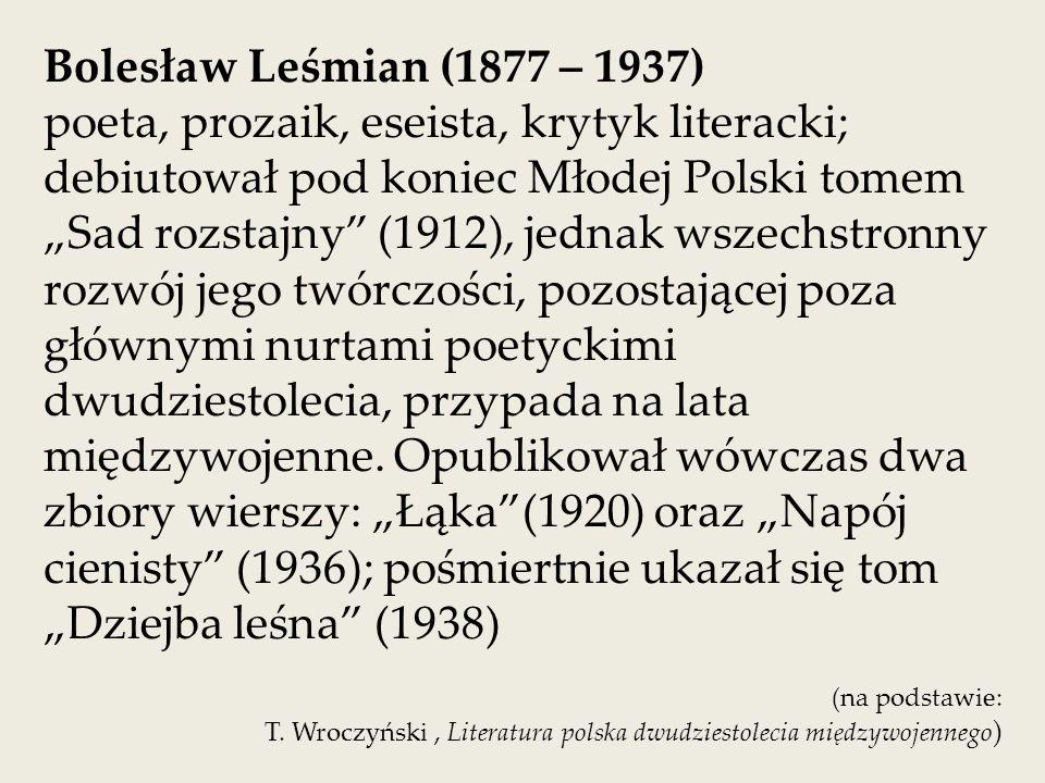 Bolesław Leśmian (1877 – 1937)