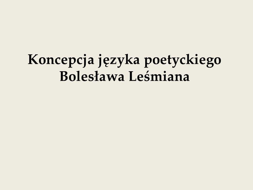 Koncepcja języka poetyckiego