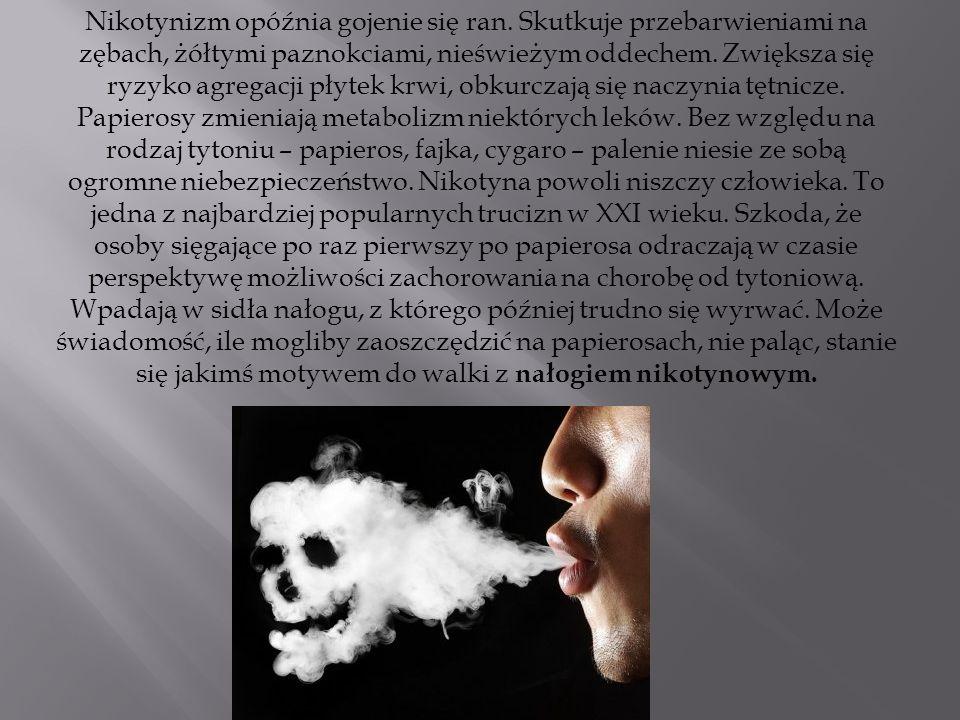 Nikotynizm opóźnia gojenie się ran