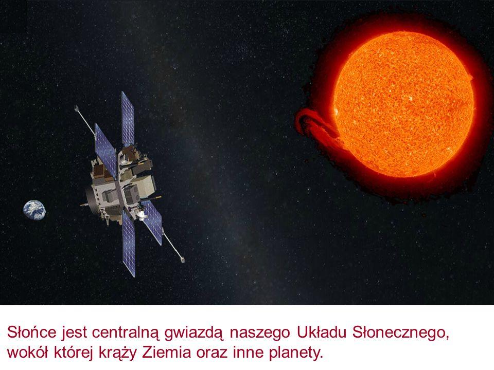 Słońce jest centralną gwiazdą naszego Układu Słonecznego, wokół której krąży Ziemia oraz inne planety.