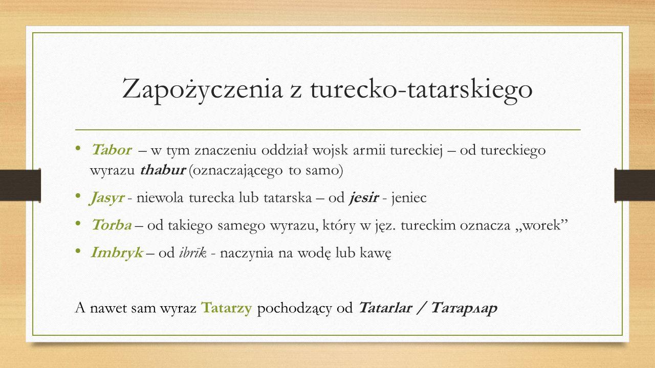 Zapożyczenia z turecko-tatarskiego