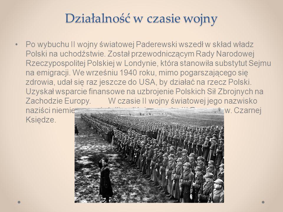 Działalność w czasie wojny