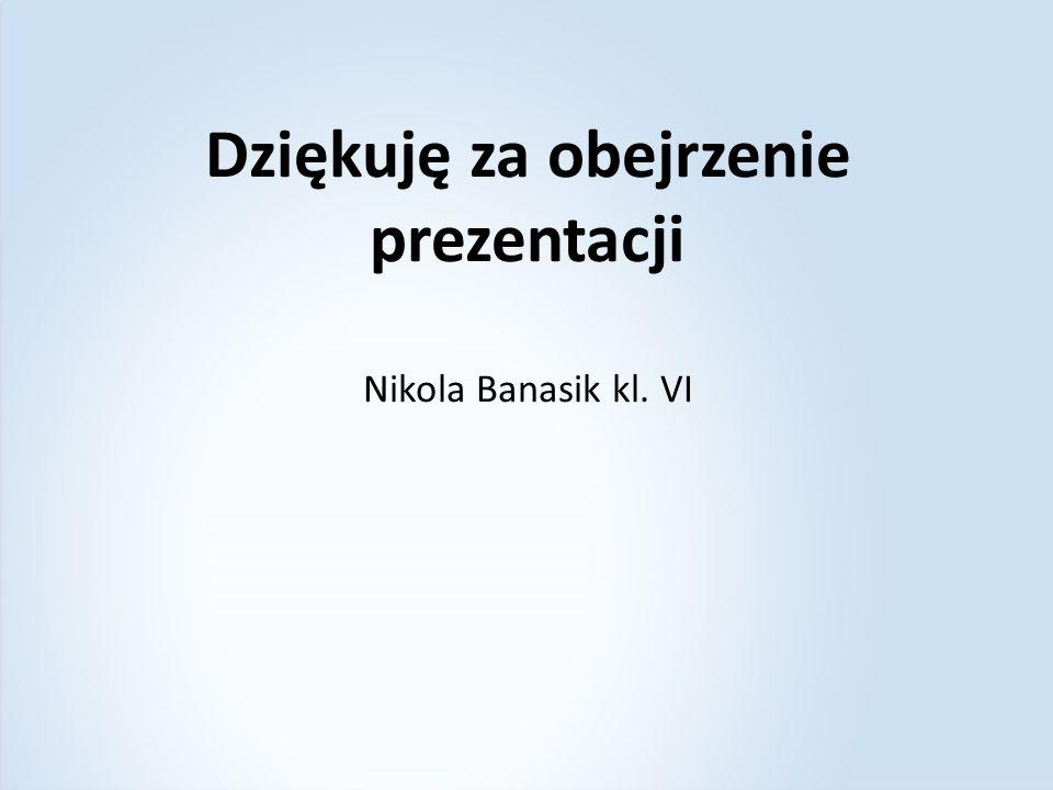 Dziękuję za obejrzenie prezentacji Nikola Banasik kl. VI