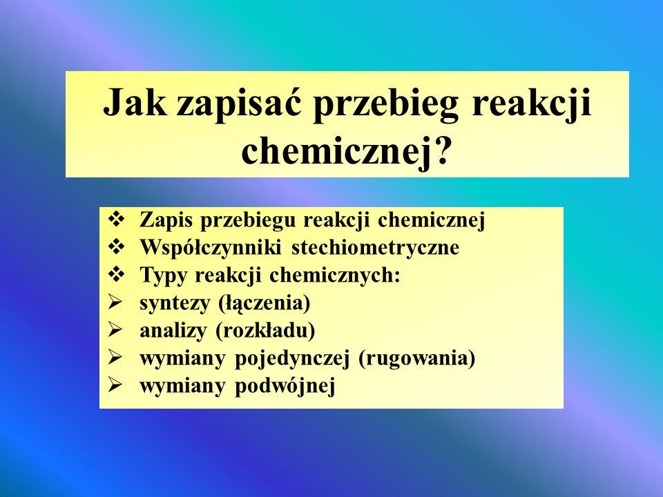 Jak zapisać przebieg reakcji chemicznej