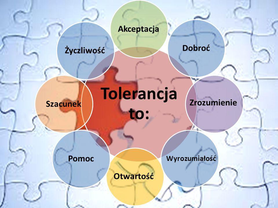 Tolerancja - szanowanie odmiennych poglądów, wierzeń, upodobań