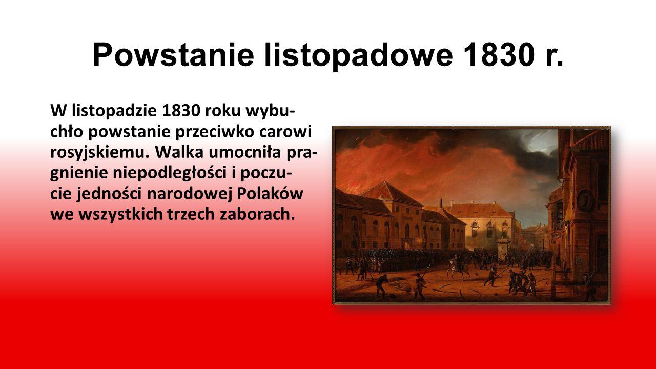 Powstanie listopadowe 1830 r.