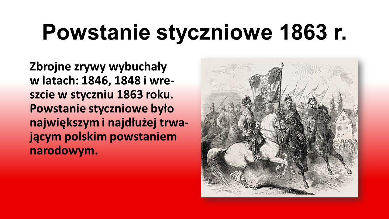 Powstanie styczniowe 1863 r.