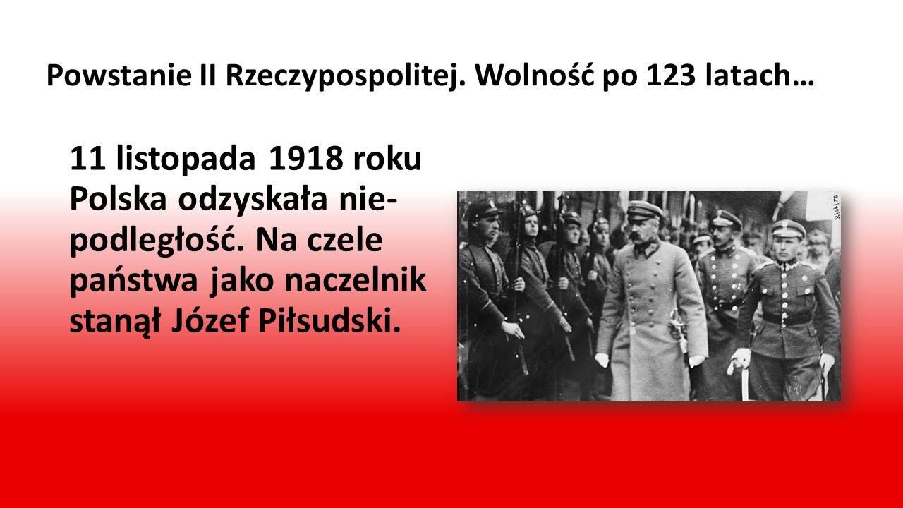 Powstanie II Rzeczypospolitej. Wolność po 123 latach…