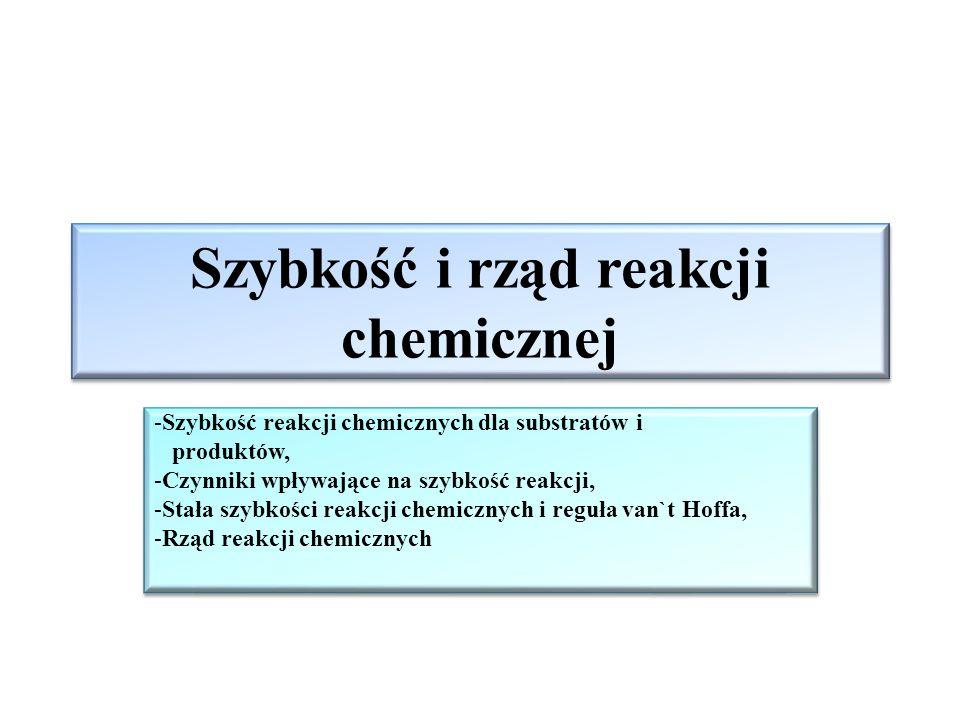Szybkość i rząd reakcji chemicznej