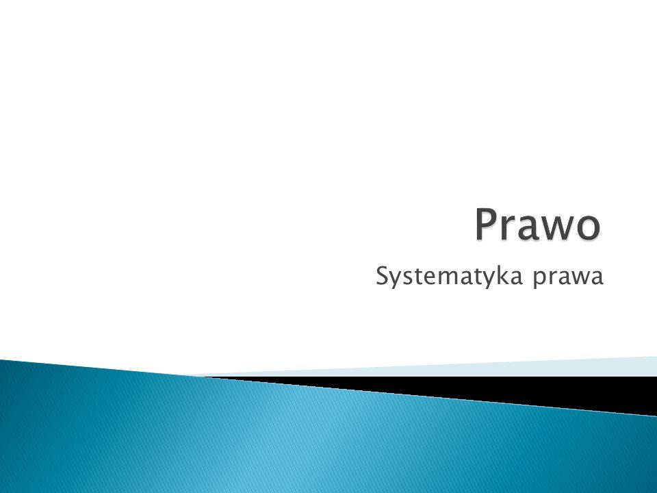 Prawo Systematyka prawa