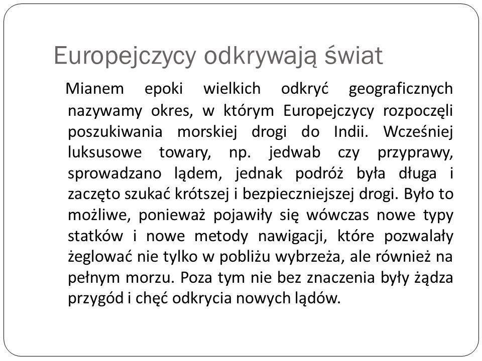 Europejczycy odkrywają świat
