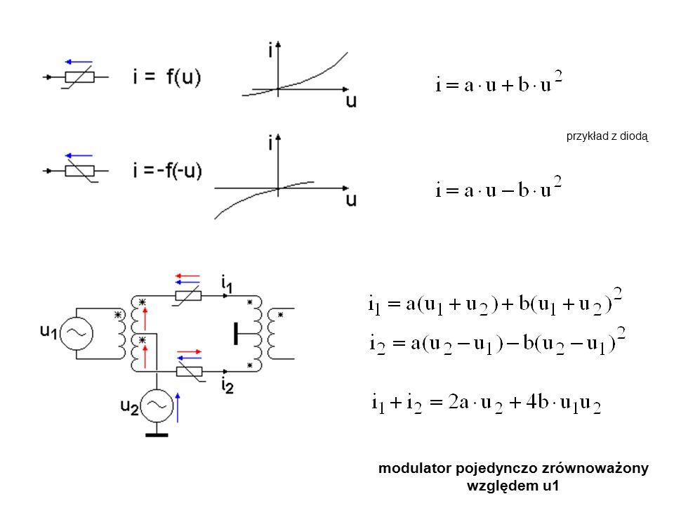modulator pojedynczo zrównoważony względem u1