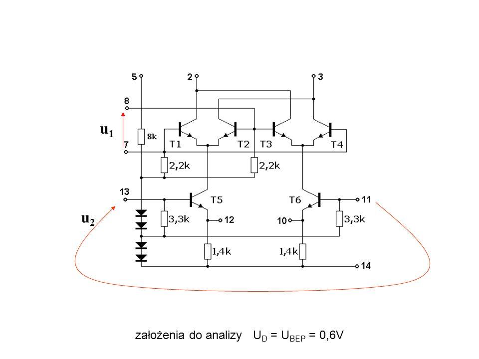 u1 u2 założenia do analizy UD = UBEP = 0,6V