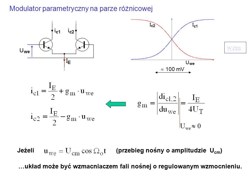 Modulator parametryczny na parze różnicowej