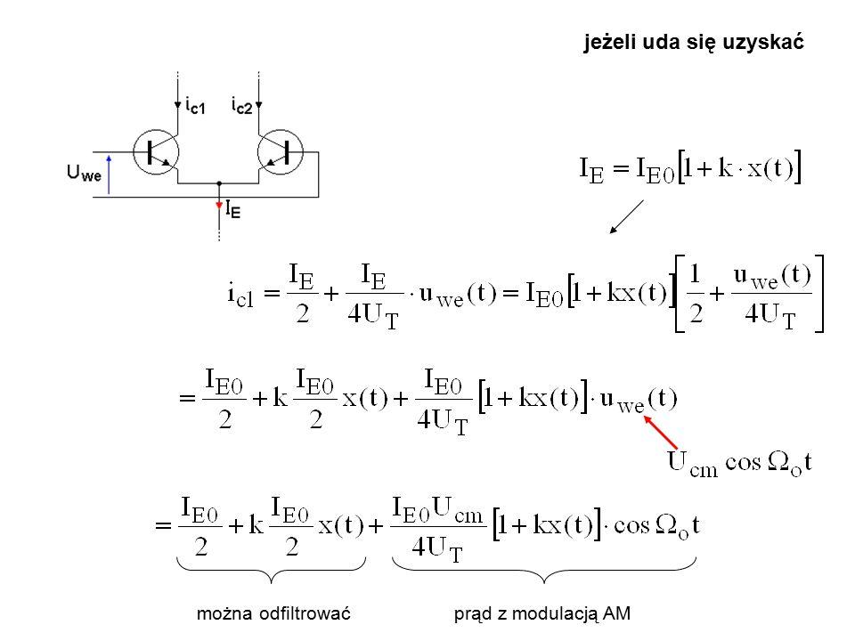 jeżeli uda się uzyskać można odfiltrować prąd z modulacją AM