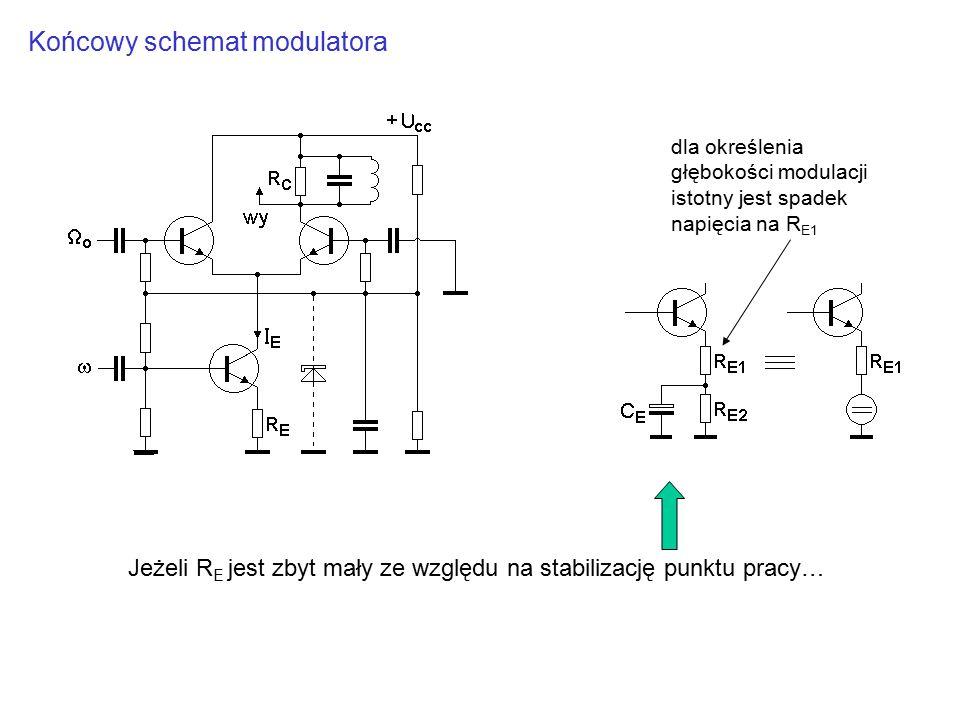 Końcowy schemat modulatora