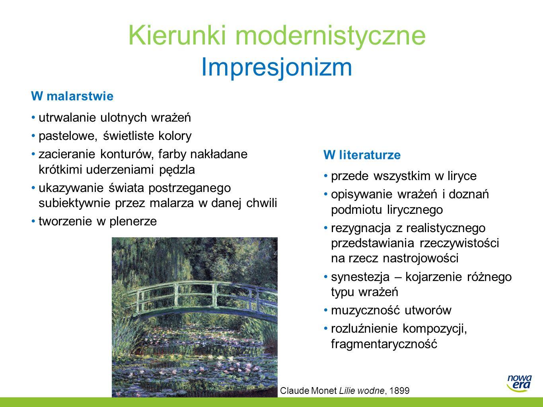 Kierunki modernistyczne Impresjonizm
