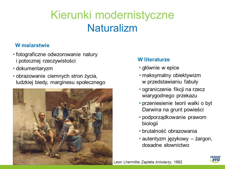 Kierunki modernistyczne Naturalizm