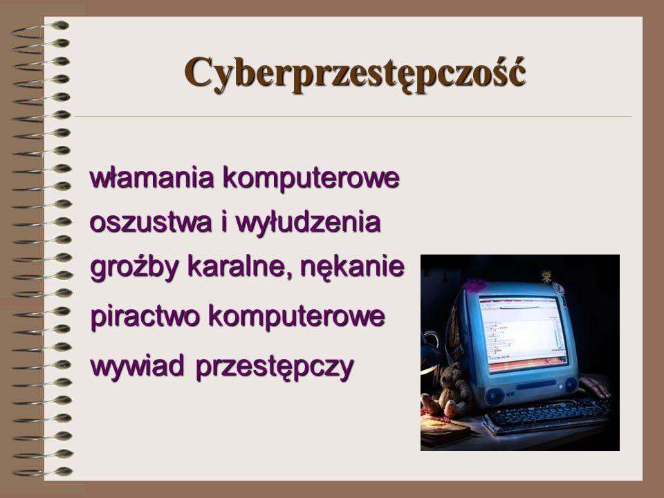 Cyberprzestępczość groźby karalne, nękanie piractwo komputerowe