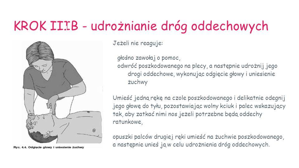 KROK IIIB - udrożnianie dróg oddechowych