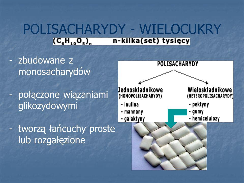 POLISACHARYDY - WIELOCUKRY