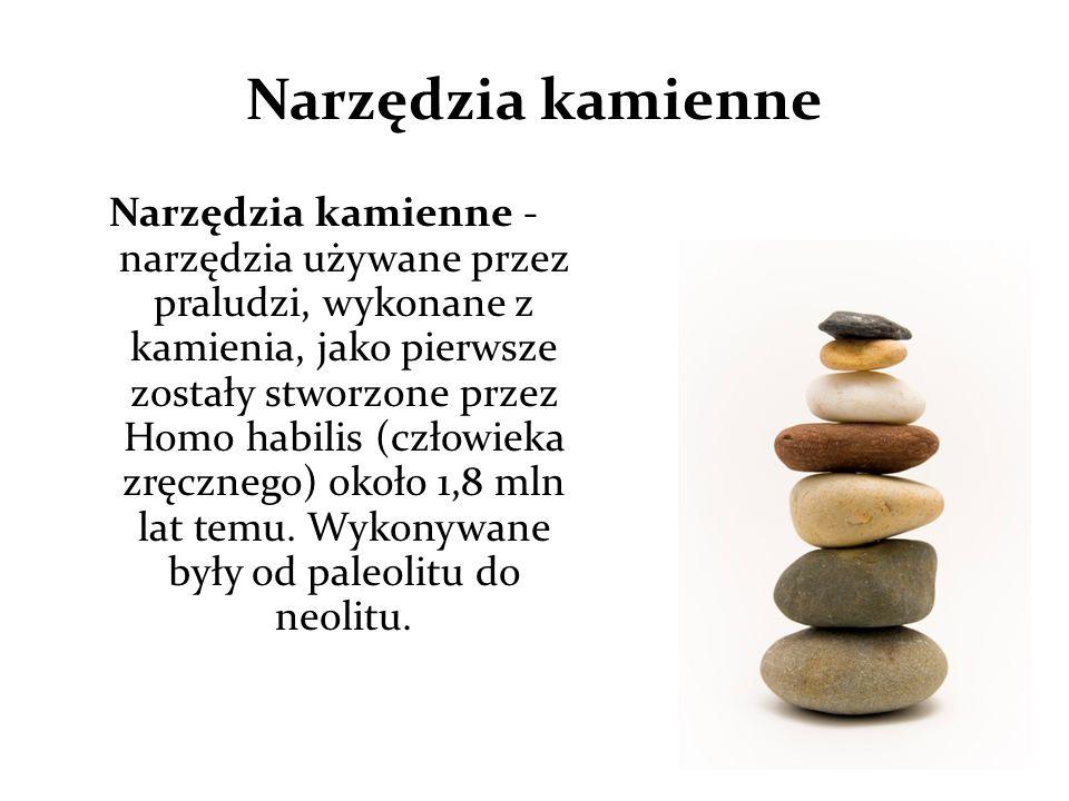 Narzędzia kamienne