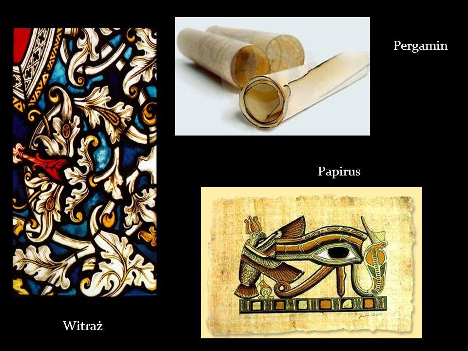 Pergamin Papirus Witraż