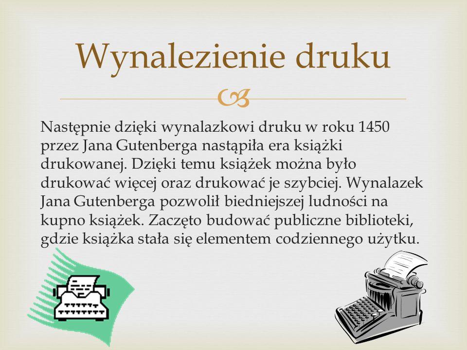 Wynalezienie druku