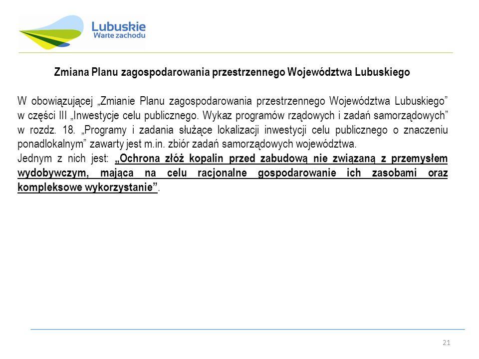 Zmiana Planu zagospodarowania przestrzennego Województwa Lubuskiego