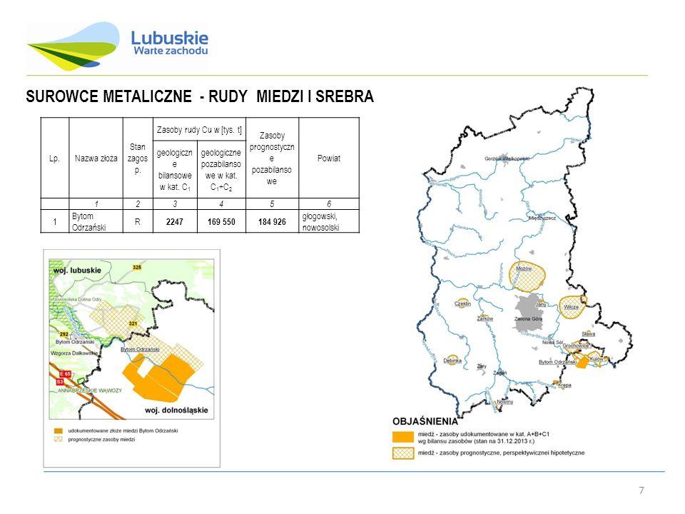 SUROWCE METALICZNE - RUDY MIEDZI I SREBRA