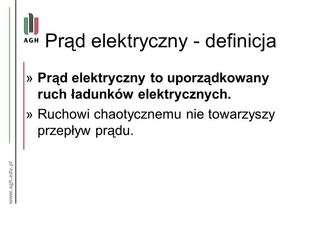 Prąd elektryczny - definicja