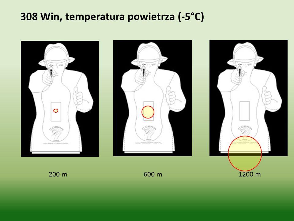 308 Win, temperatura powietrza (-5°C)