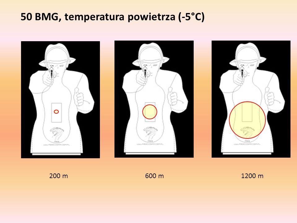 50 BMG, temperatura powietrza (-5°C)