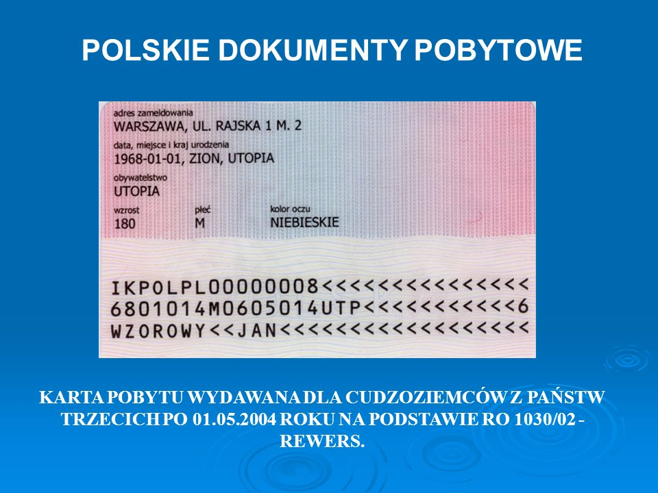 POLSKIE DOKUMENTY POBYTOWE