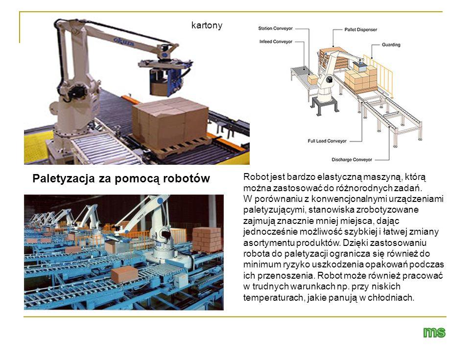 ms Paletyzacja za pomocą robotów kartony