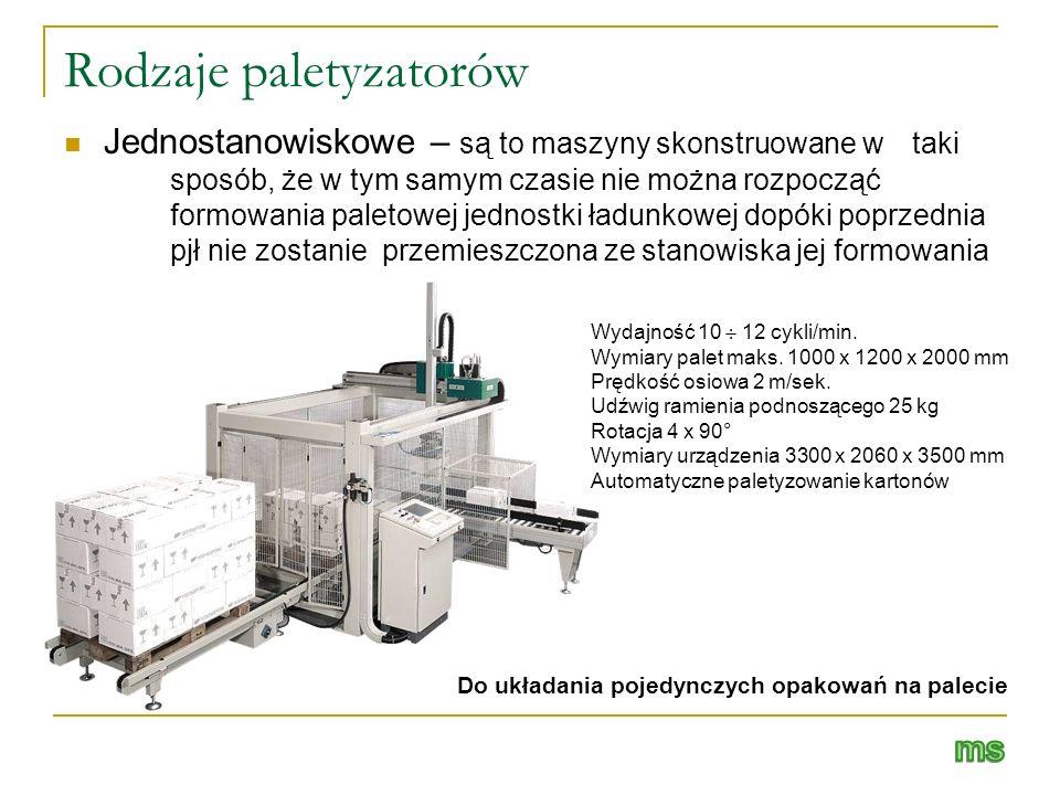 Rodzaje paletyzatorów